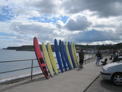 Lining up the surf boards, Cullen photo