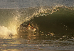 Riding in a tube, Newport Beach photo