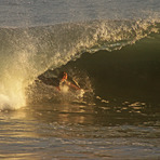 Riding in a tube, Newport Beach