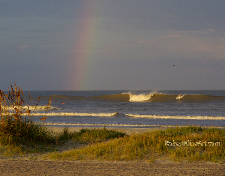 Rainbow - Hurricane Katia Saint Augustine Florida, St Augustine Beach Pier