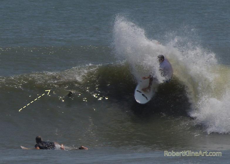 Hurricane Irene swell - F street Saint Augustine, Florida, St Augustine Beach Pier