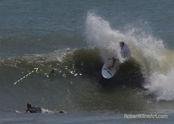 Hurricane Irene swell - F street Saint Augustine, Florida, St Augustine Beach Pier photo