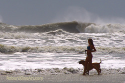 Hurricane Irene swell - A street Saint Augustine, Florida photo