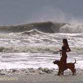 Hurricane Irene swell - A street Saint Augustine, Florida