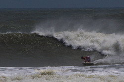 Hurricane Irene swell, St Augustine Beach Pier photo