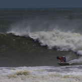 Hurricane Irene swell, St Augustine Beach Pier