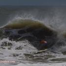 Hurricane Irene swell, St Augustine Beach Pier