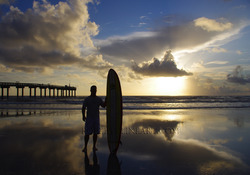 Early morning surf session, St Augustine Beach Pier photo