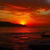 Blood red orange sunrise, Malabar