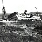 The wreck of MV Malabar, 2 April 1931.