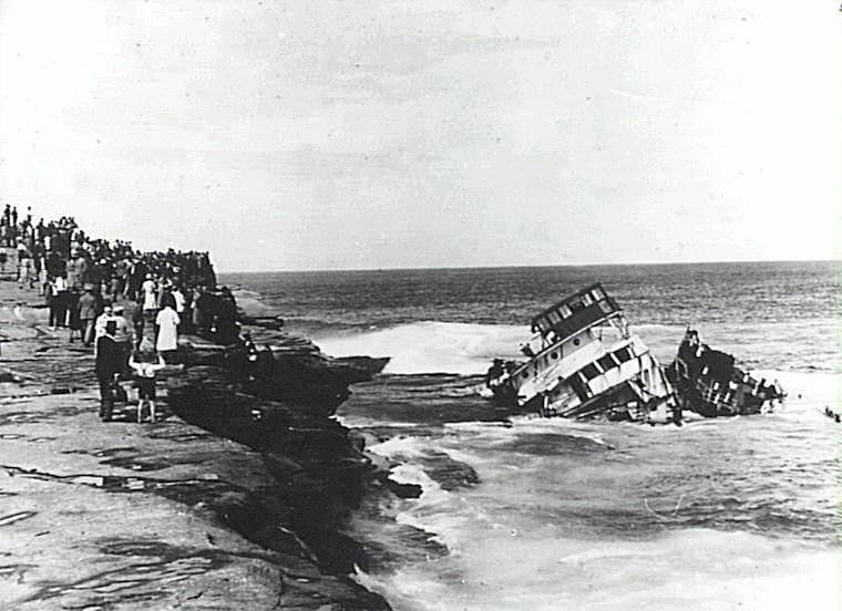 The wreck of MV Malabar-2 April 1931