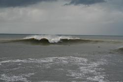 More big surf on the trap, Aberystwyth harbour trap photo