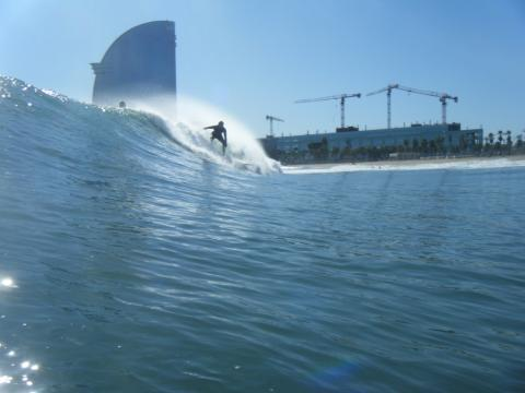 Glassy at Barceloneta