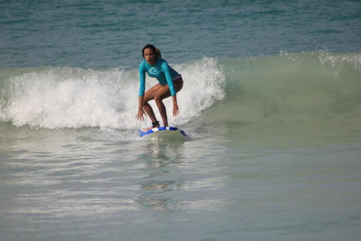 3rd lesson at Macao Surf Camp, Playa del Macao