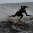 sliding the rear end..., Fitzroy Beach