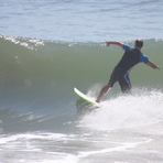 Lining up for the turn, Alkantstrand
