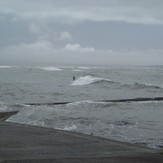 Surfing at Tramore Pier, first time seeing that!!!