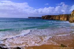 Praia do Beliche surf spot, Sagres, Algarve, Portugal photo
