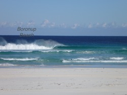 beautiful left, Boranup Beach photo