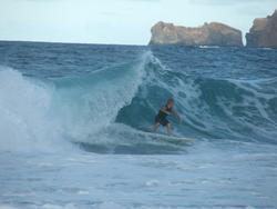 Josh catches a sick left!, Pyramid Rock photo