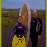 Surfing in Movember, Creswell Beach