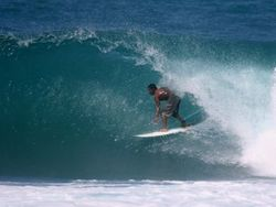 Barbados surf, Bridgetown Harbour photo