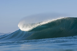 pipeline breaking to barrel, Banzai Pipeline and Backdoor photo