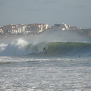 First swell of the season Supertubos early September