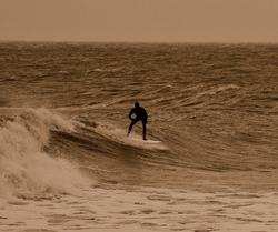 Late afternoon surf, Rhos-On-Sea photo
