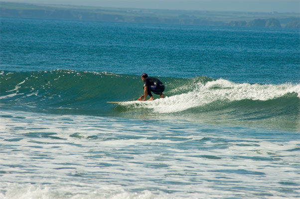 Surfer at newgale beach