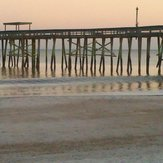 low surf, Fernandina Beach Pier