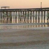 low surf, Fernandina Beach Pier