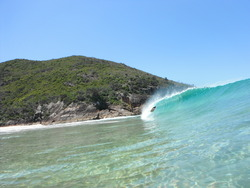 bodyboarders heaven, Box Beach photo