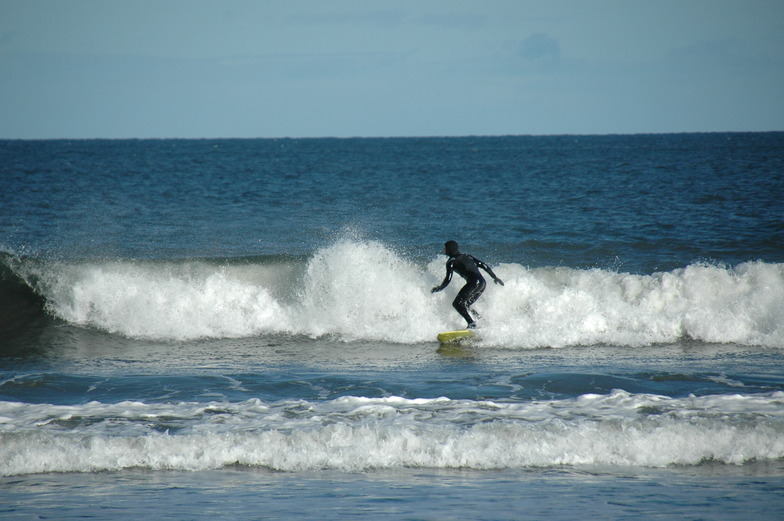 Enjoying the surf at Yellowcraig, Yellowcraig Beach