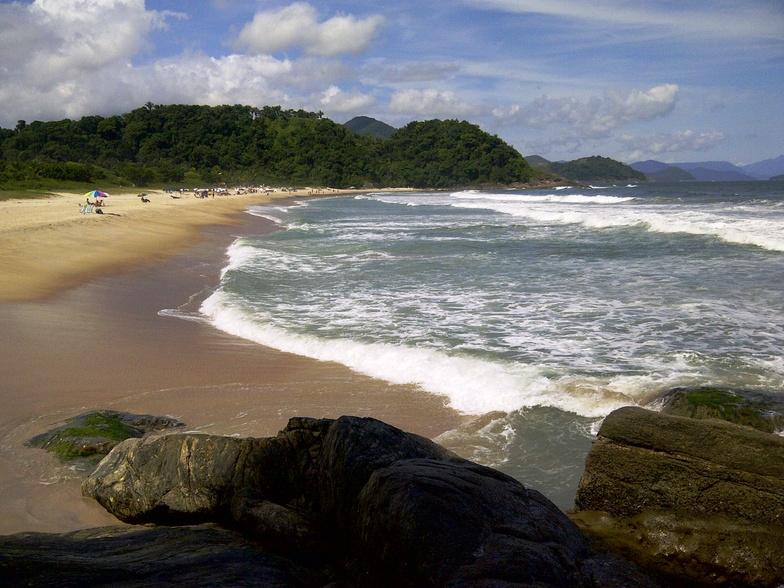 Nice summer day in Brazil, praia da Juréia - São sebastião, Praia da Boraceia