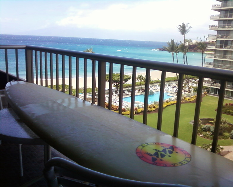 fresh wax and a view from the whaler, Ka'anapali Point