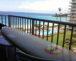fresh wax and a view from the whaler, Ka'anapali Point photo
