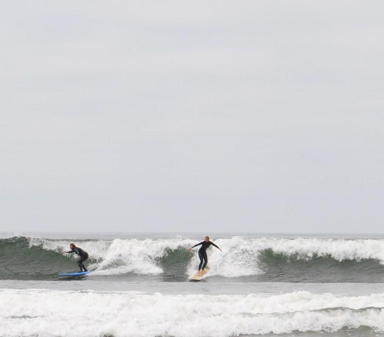 mom daughter drop in Hobuck Beach, Hobuck/North Coast