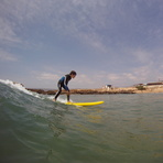 Surfing at Devils Rock Morocco, Devil's Rock