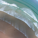 Aerial view of waves at La Palue, Brittany