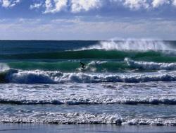 Rare day at the wall, Moruya Breakwater photo