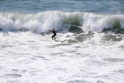 Surfing at Manhattan Beach Pier, Manhattan Beach and Pier photo
