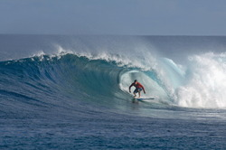 Barrel time at Five Islands photo