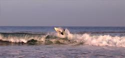 Surfing during solar ecplise, Topanga Point photo