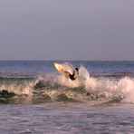 Surfing during solar ecplise, Topanga Point