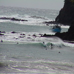 south end medlands beach / big SE swell