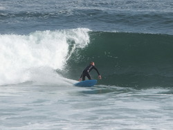 bottom turn, Punta Rocas photo