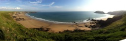 Marloes Sands Panorama photo
