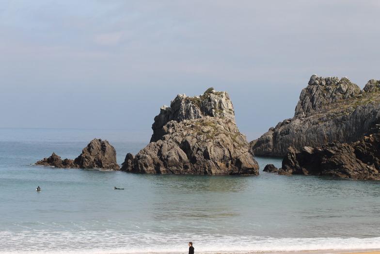 laga sin olas, Playa de Laga
