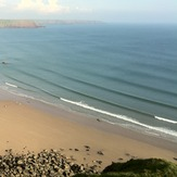 Swell lines at Marloes, Marloes Sands